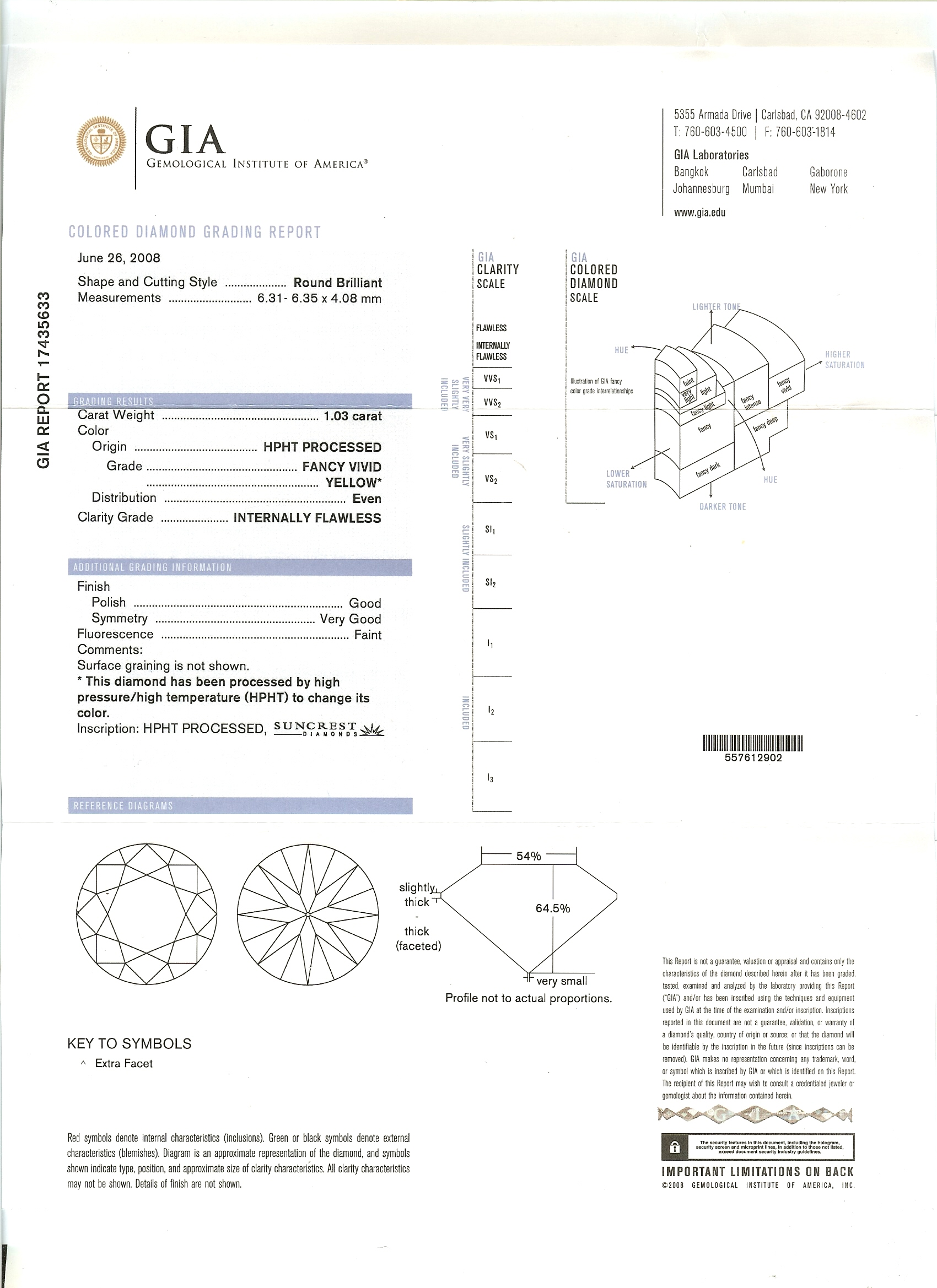diamond sample us en grade of gia dgr grading report