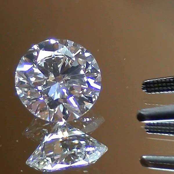 2 01 Ct Gia Certified Round Brilliant Natural Hpht Diamond