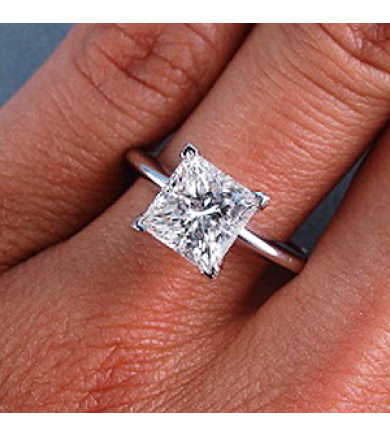 1.03 ct Princess Laser Drilled