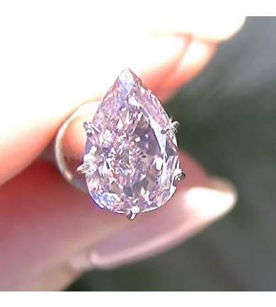 1.07 ct Fancy Intense Pink Pear, VVS2