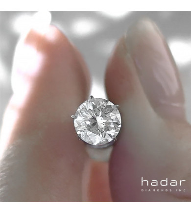 1.26 ct Round Brilliant Laser Drilled Diamond