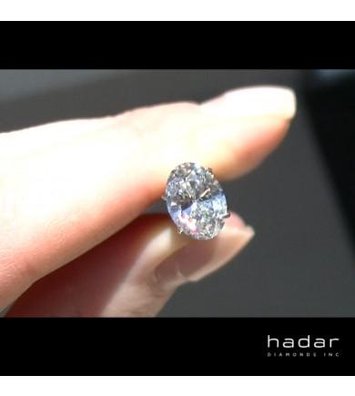 2.15 ct GIA Oval Brilliant Diamond, natural hpht