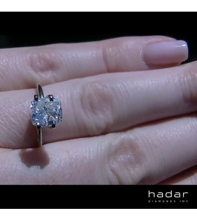 1.83 ct Cushion Brilliant Cut Laser Drilled Diamond