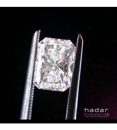 1.27 ct Radiant Cut Clarity Enhanced Diamond