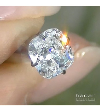 1.50 ct Cushion Brilliant Cut Laser Drilled Diamond