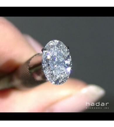 1.52 ct GIA Oval Brilliant natural hpht diamond