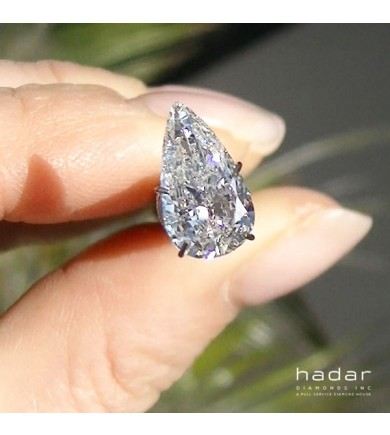 1.63 ct Pear Brilliant, Laser Drilled Diamond