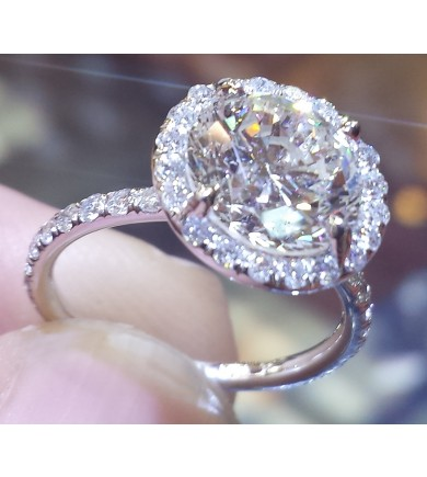 "The ""Angel"" Halo Engagement Ring"