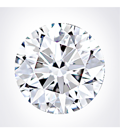 1.01 ct Round Brilliant, Excellent Cut Laser Drilled Diamond