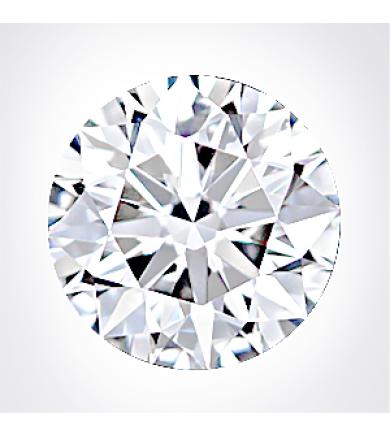 1.01 ct Round Brilliant, Excellent Cut Laser Drilled Diamond