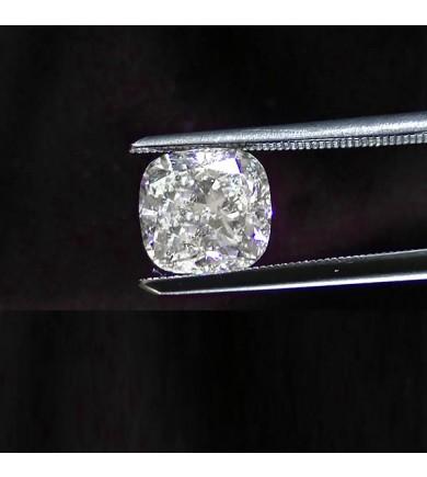 2.05 ct Cushion Cut Diamond Laser Drilled