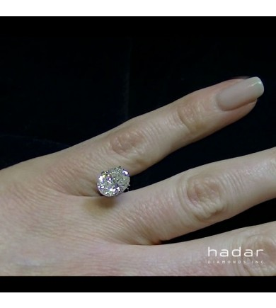 2.22 ct Oval Brilliant Laser Drilled Diamond