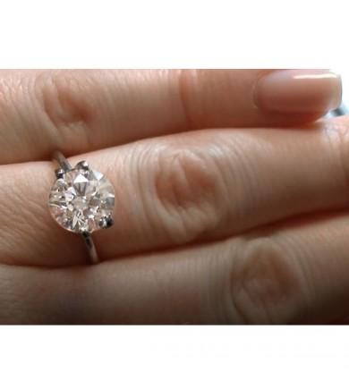 2.61 ct Round Brilliant Diamond, Laser Drilled & Clarity Enhanced