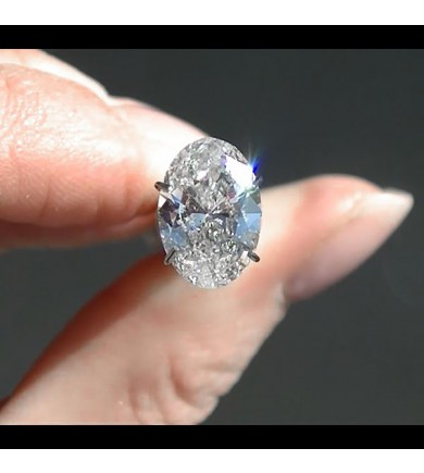 2.01 ct Oval Brilliant Laser Drilled Diamond