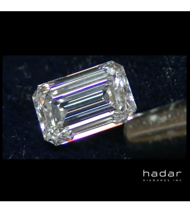 2.50 ct GIA Emerald Cut Diamond, D, VVS1, natural hpht