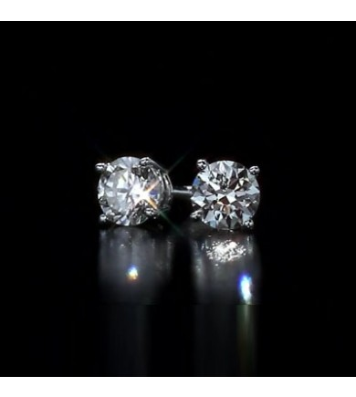 3 02 Tcw Gia Hpht Diamond Earrings Vvs1 Triple Excellent