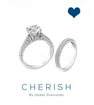 Cherish Pave Solitaire - Inquire for pricing