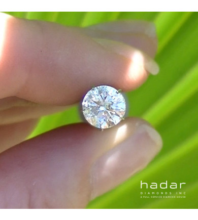 1.08 ct Round Brilliant Laser Drilled Diamond