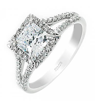 Halo Engagement Ring KS9066-R