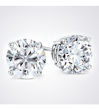 1.07 ct Round Clarity Enhanced Earrings