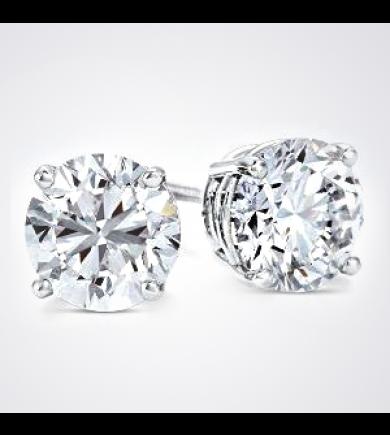2.22 ct tw GIA Diamond Earrings