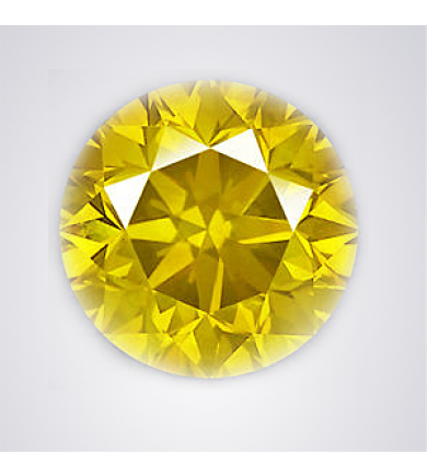 1.31 ct Fancy Yellow Eye-Clean HPHT