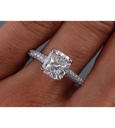 2.03 ct Radiant Brilliant, Laser Drilled Diamond