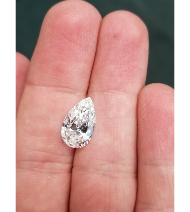 2.20 ct Pear Brilliant Cut Laser Drilled Diamond