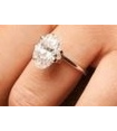 3.82 ct Oval Brilliant Cut Laser Drilled Diamond