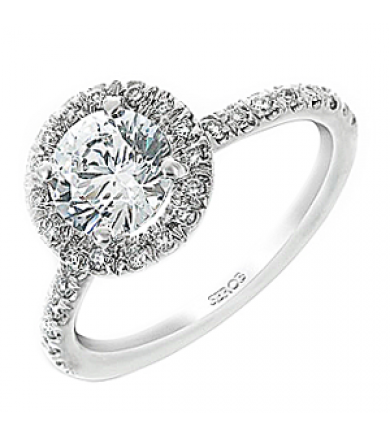 The Classic Halo Engagement Ring KS6391-R