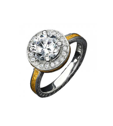 Two-Tone Halo Ring KS168X9511_RT8