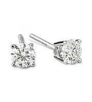 1.05 ct tw GIA Diamond Earrings