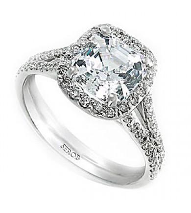 Halo Engagement Ring KS9009-R