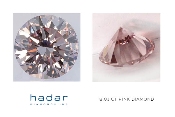 8.01 ct GIA Certified Pink Diamond