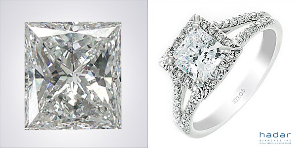 Princess Cut Diamond Halo Engagement Ring Under $5,000