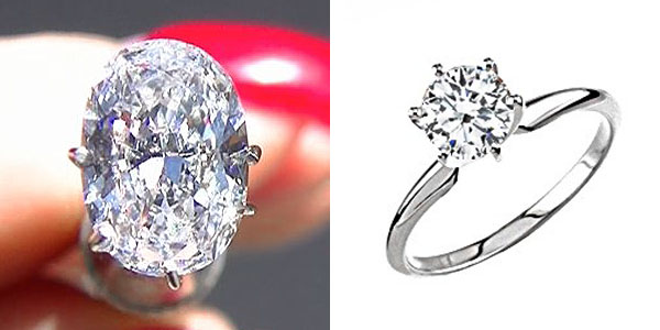 Oval Brilliant Diamond Engagement Ring Under $5,000