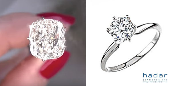 Cushion Cut Diamond Solitaire Engagement Ring Under $5,000