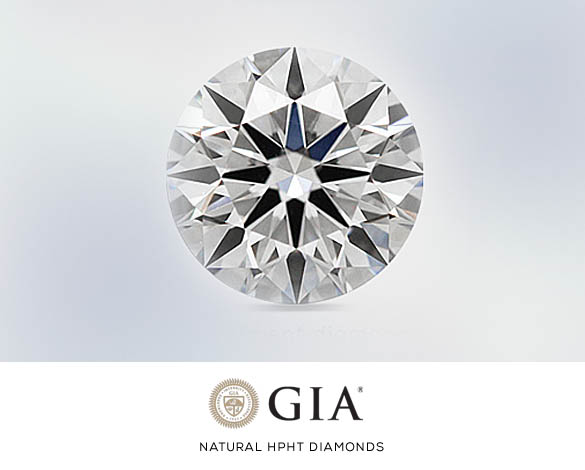 HPHT Diamonds - Natural, GIA Certified