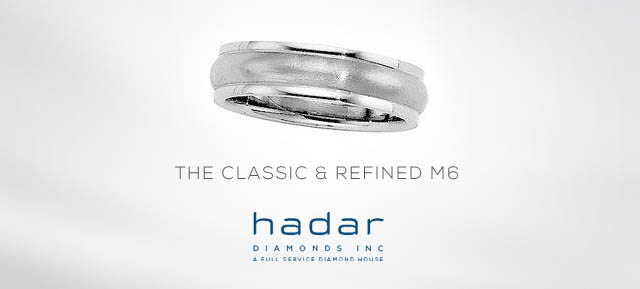The M6 Men's Wedding Band by Hadar Diamonds
