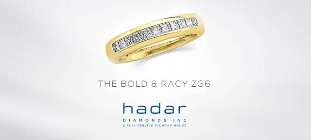 The ZG6 Men's Wedding Band by Hadar Diamonds