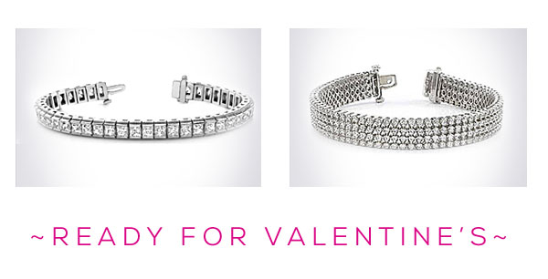 Diamond Tennis Bracelet Sale for Valentines Day